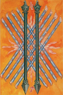 Thoth 10 of Wands