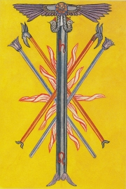 Thoth 5 of Wands