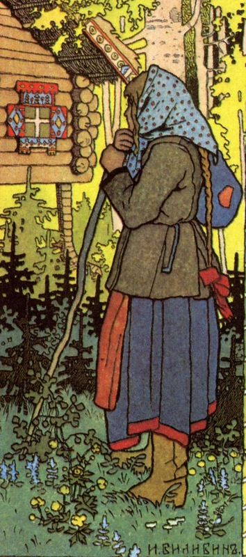 Girl in a Forest -Bilibin