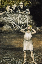 9 of Swords Mythic Tarot