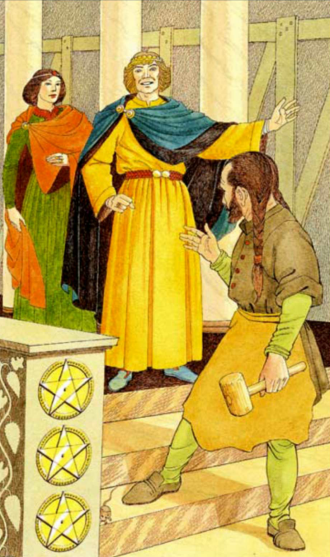 The Three of Pentacles