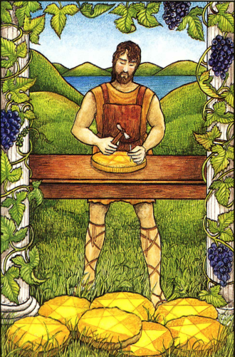 The Eight of Pentacles