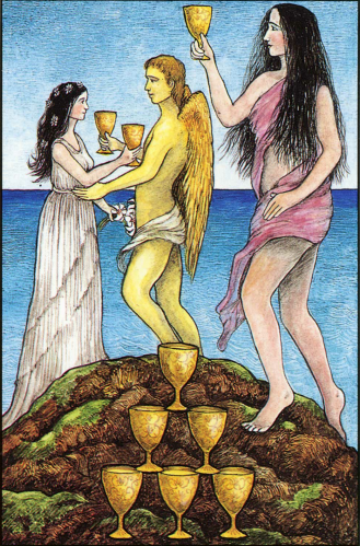 The Nine of Cups-Mythic Tarot
