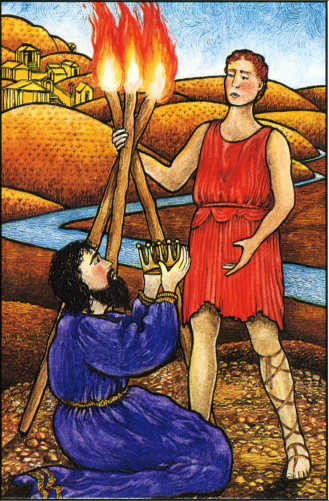 Mythic Tarot- 3 of Wands