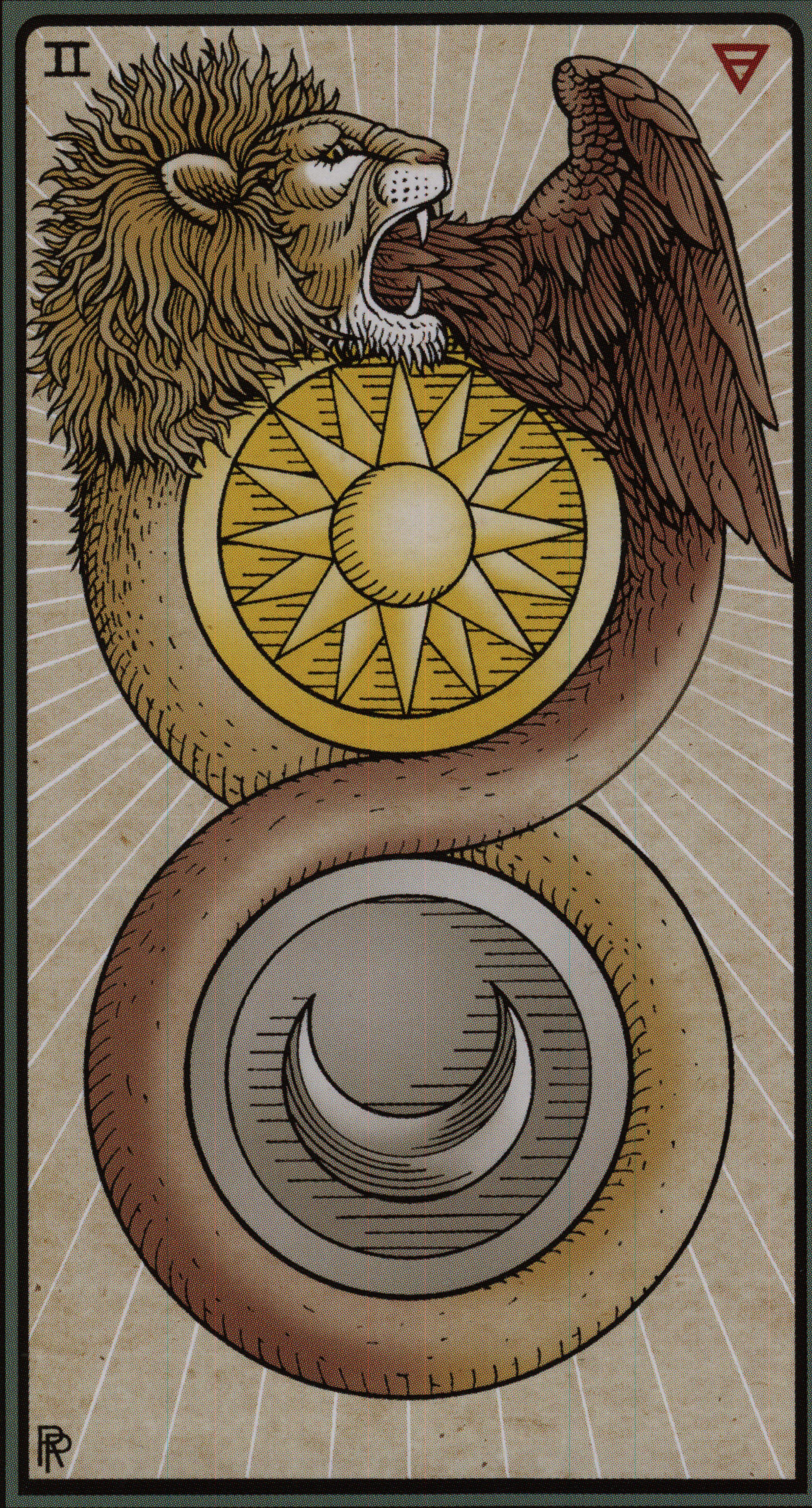 The Alchemical Tarot-The 2 of Coins