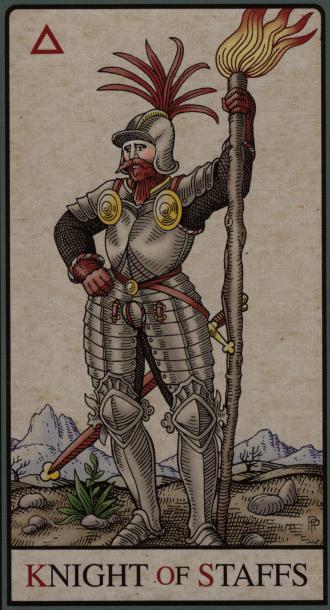 The Knight of Staffs