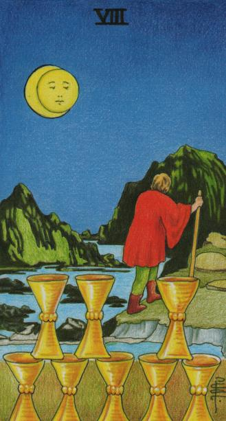 RWS-The Eight of Cups