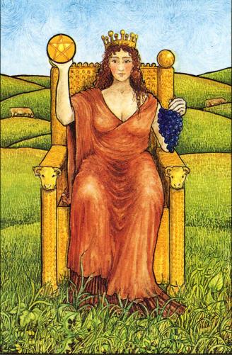 The Queen of Pentacles