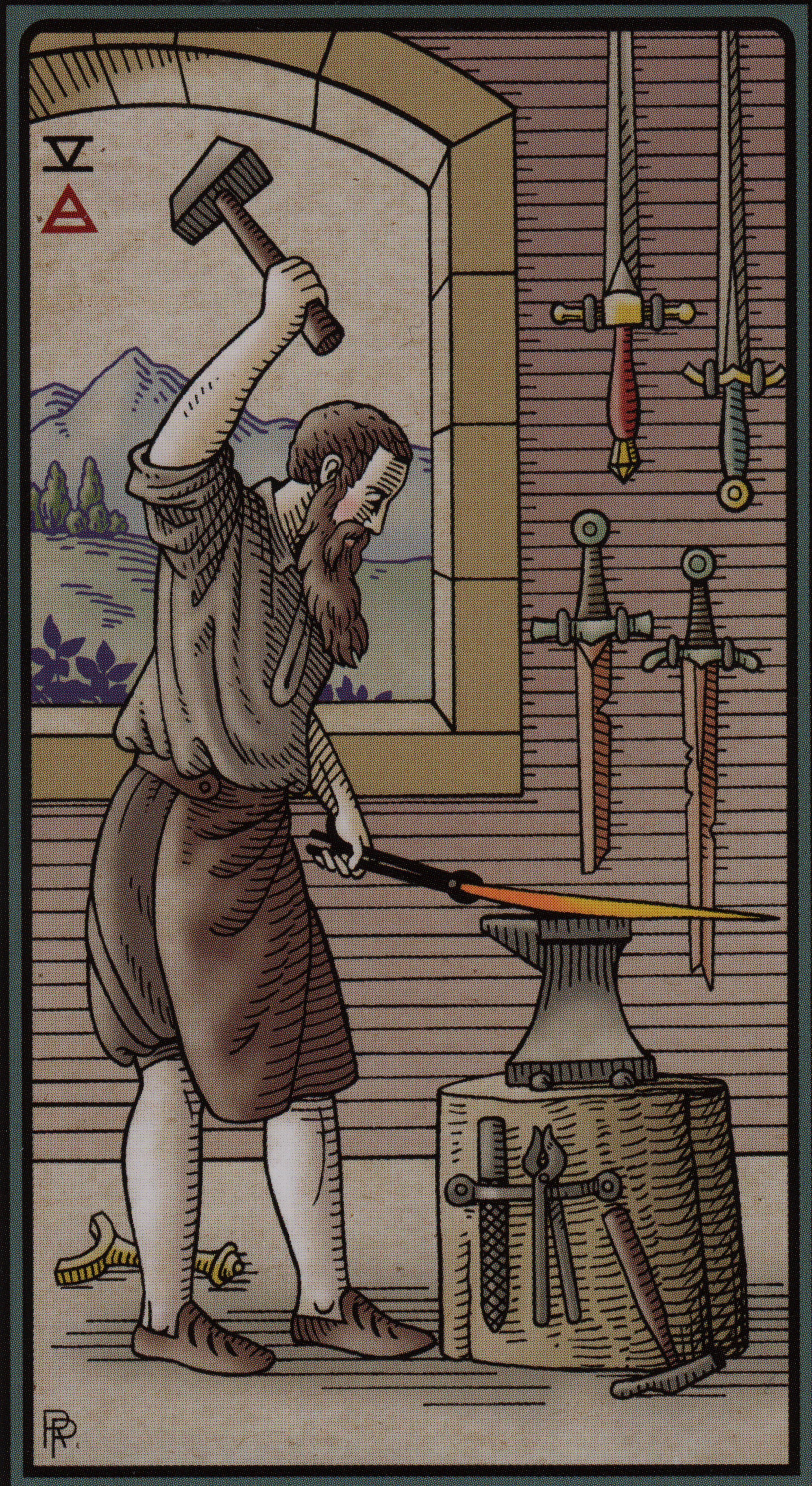 The Alchemical Tarot- Five of Swords